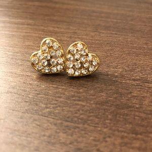 🌵4/$20   Gold Heart Earrings